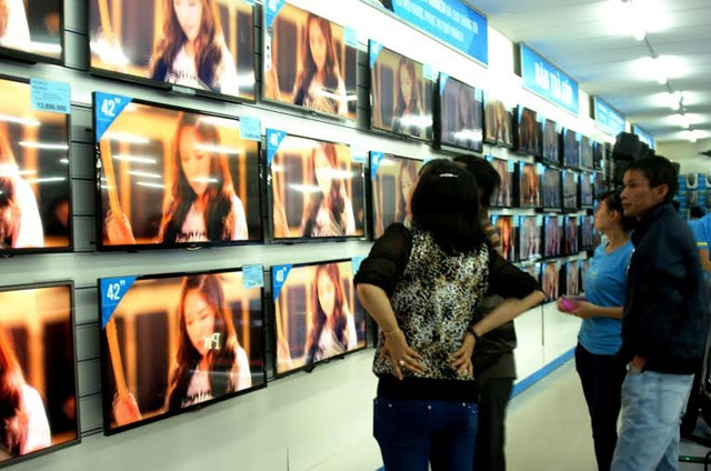 TV là mặt hàng được nhiều người lựa chọn