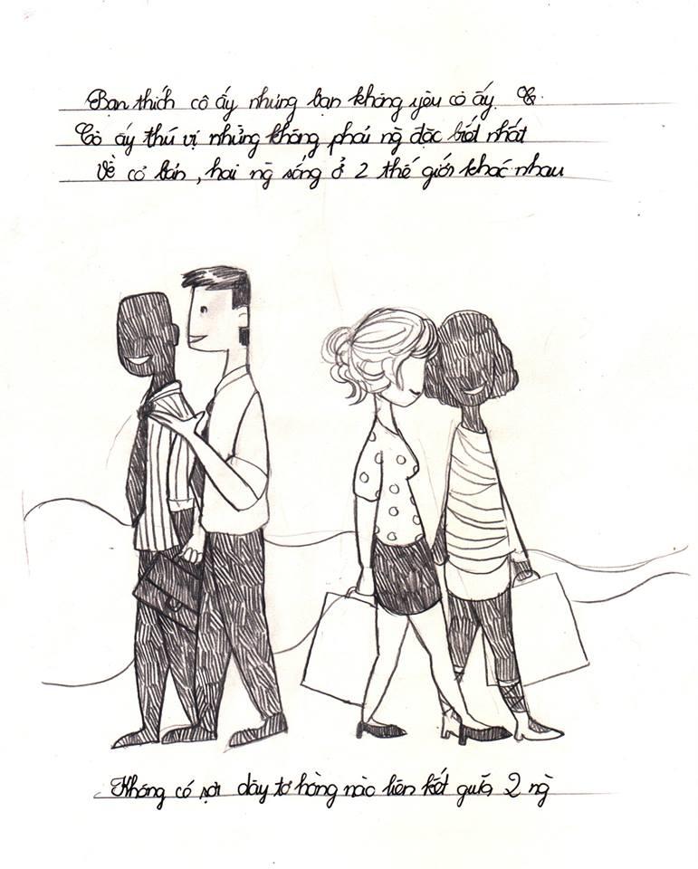 Ngộ nghĩnh bộ tranh bốn người con gái bất kì người đàn ông nào cũng hẹn hò
