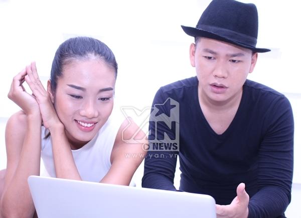 Người mẫu Nhã Trúc và NTK Hoàng Minh Hà