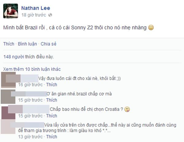 """Có vẻ Nathan Lee đã thức cả đêm vì màn """"cá cược"""" này của mình nhân mùa World Cup"""