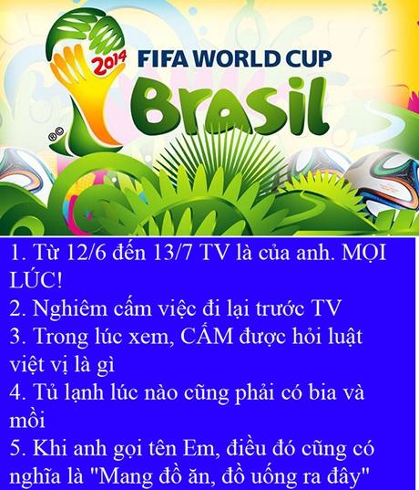 World Cup 2014: Dân mạng cuồng nhiệt chế ảnh cổ động mùa World Cup 2014