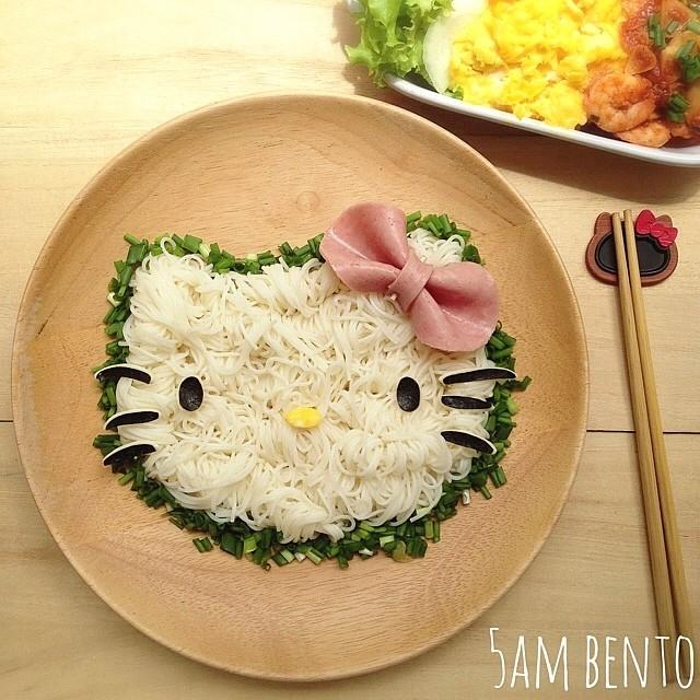 Những món ăn hình mèo Kitty dễ thương ăn không nổi