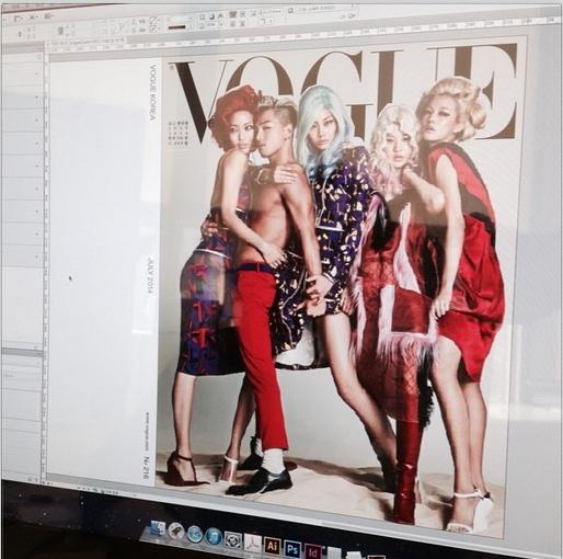 """Taeyang khoe hình chụp tạp chí có nhiều mỹ nữ """"bao vây"""""""