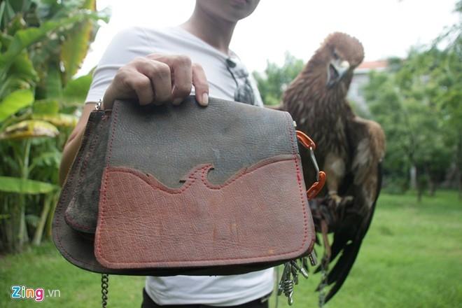 Ngoài ra còn có bao da để chứa thức ăn, dụng cụ huấn luyện chim săn mồi.