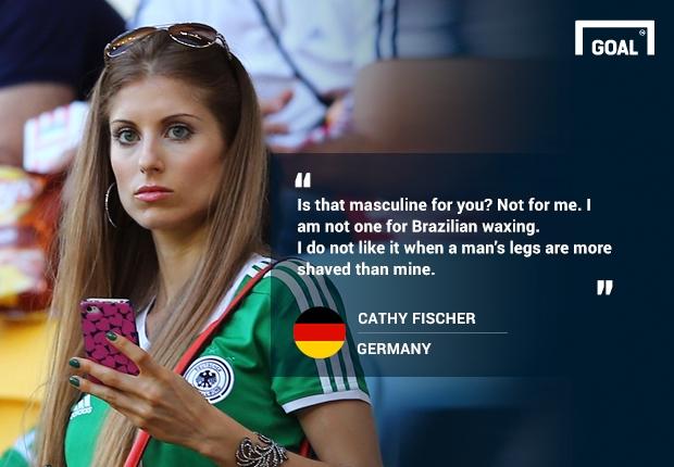 Cathy không thích một cầu thủ ít lông như Ronaldo