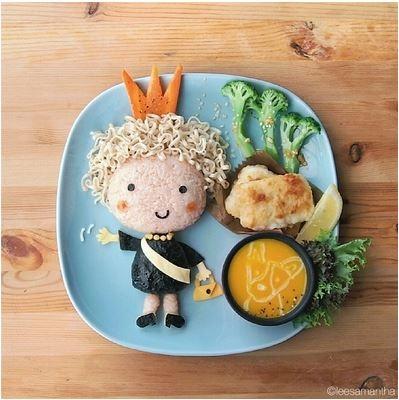 Cộng đồng mạng sốt với những nhân vật nổi tiếng xuất hiện trên...thức ăn
