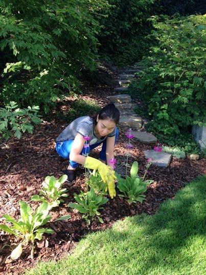 """Nữ ca sĩ Thu Minh đã đăng tải lên trang cá nhân một bức ảnh ghi lại khoảnh khắc cô đang ngồi xổm chăm sóc hoa trong vườn. Khác xa với hình ảnh lộng lẫy, mạnh mẽ trên sân khấu, """"Nữ hoàng nhạc dance"""" đời thường cũng có những lúc giản dị như thế này nên đã khiến nhiều fan thích thú. Nữ ca sĩ cũng vui vẻ viết status minh hoa cho hình ảnh trồng hoa của mình: """"Chăm sóc mấy cưng rồi nở thật đẹp cho chị ngắm nhé""""."""