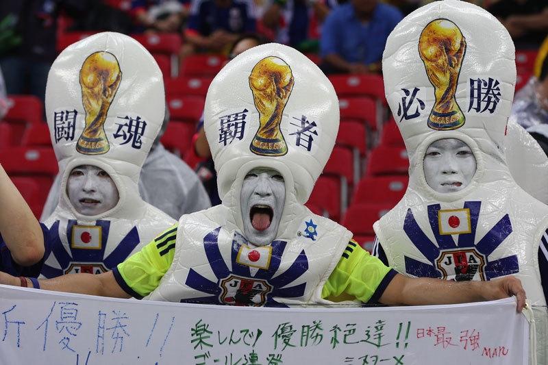 Người Nhật hóa thân thành những gương mặt đầy phấn trắng, khiến người ta liên tưởng đến Geisha, một nét văn hóa của quốc gia Đông Á này.