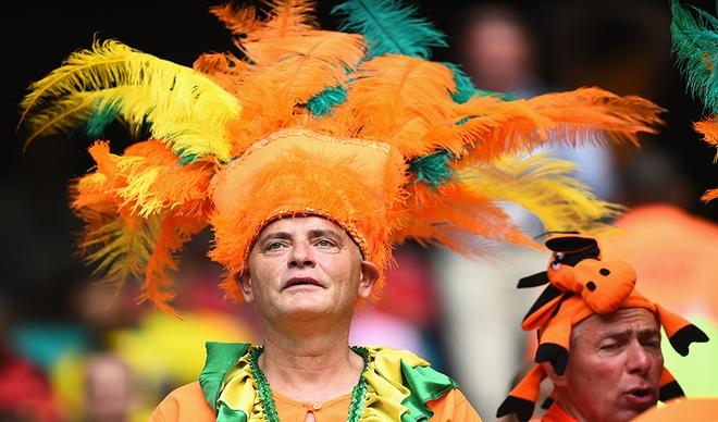 Một người hâm mộ lớn tuổi của Hà Lan có mặt tại Brazil.