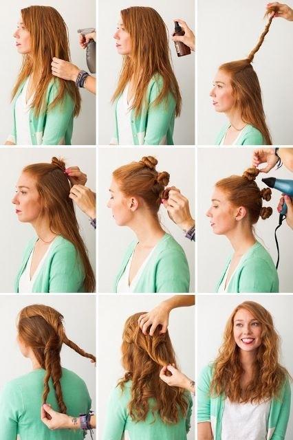 Hoặc nếu tóc bạn quá bất trị, hãy dùng đến máy sấy