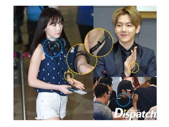 """Đồ đôi của Taeyeon và Baekhyun cũng bị Dispatch """"soi"""" tới"""