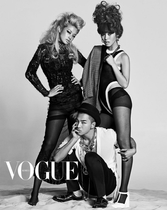 Taeyang ngực trần ôm áp gái lạ