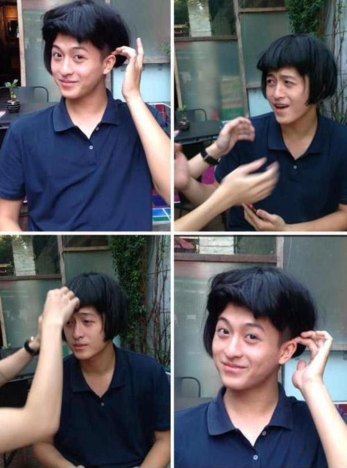"""Anh chàng hotboy xứ Đài Harry Lu vừa khiến các fan vô cùng thích thú và cười muốn """"té ghế"""" với hình ảnh anh đang đội một mái tóc giả của nữ, bên cạnh đó là những cử chỉ rất là yểu điệu và cự kì nữ tính.Anh chàng còn đùa muốn tham gia vào làng giải trí chuyển giới ở Thái Lan."""