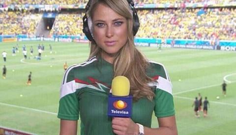 Vanessa Huppenkothen - 29 tuổi và đang là nữ phóng viên thể thao của đài truyền hình Televisa (Mexico). Tại World Cup lần này, Vanessa chuyên trách đưa tin và thực hiện các cuộc phỏng vấn nhanh.