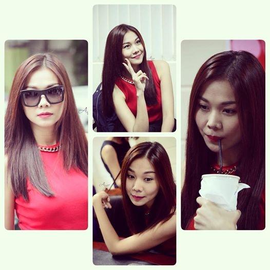 Chân dài Thanh Hằng siêu hài hước với những biểu cảm khác nhau nhưng vô cùng đáng yêu trên gương mặt.