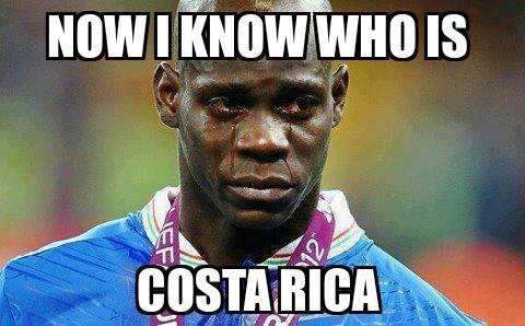 """""""Giờ thì tôi mới biết Costa Rica mạnh như thế nào"""", Mario Balotelli cho biết sau trận thua của Italy."""