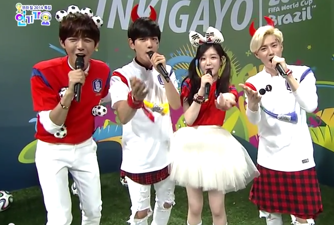 Fan không ngừng gọi Baekhyun là kẻ phản bội trong buổi ghi hình Inkogayo