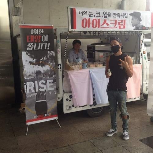 """Taeyang """"chiêu đãi"""" fan bằng tấm hình nguyên chiếc xe kem do fan tặng cho anh ấy"""