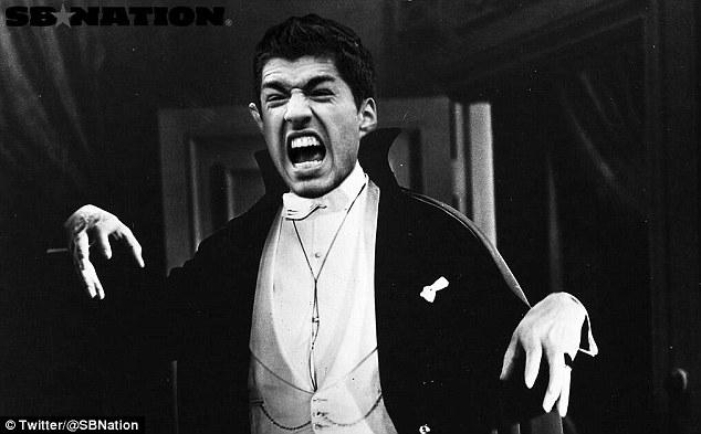 [Bóng đá] Ảnh chế siêu hài về kẻ khát máu Suarez