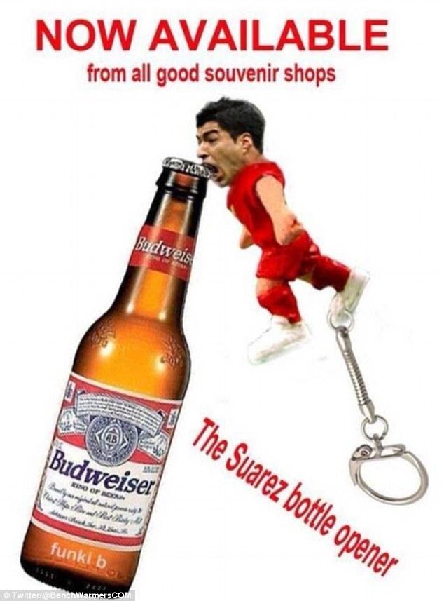 Mở bia mang nhãn hiệu Suarez chắc chắn sẽ bán rất chạy nếu được sản xuất