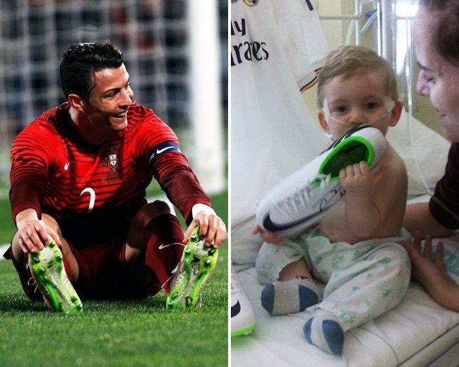 Ronaldo luôn quan tâm tới trẻ em nghèo khó