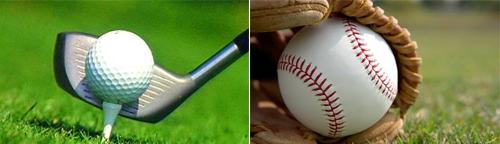Brazuca có bề mặt lồi lõm như trái bóng golf (trái) và kiểu khâu tương tự bóng chày.