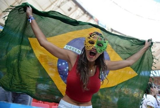 Người đẹp đến từ nước chủ nhà Brasil..