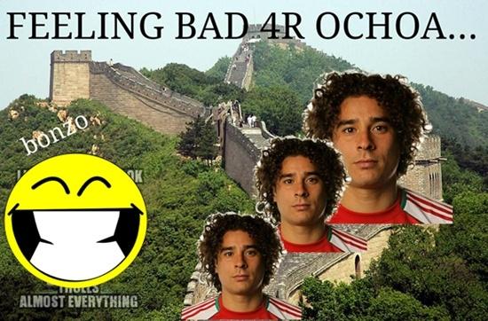Ochoa được ví là Vạn lý trường thành của tuyển Mexico.