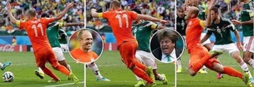 [ Bóng Đá ] Ảnh chế hài hước pha Robben ngã kiếm phạt đền