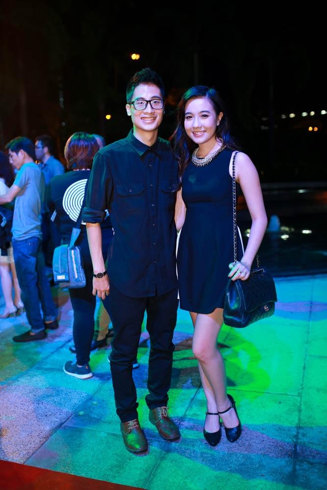 Các Vlogger được giới trẻ yêu thích như Phở, Jvevermind cùng bạn gái Mie cũng có mặt.