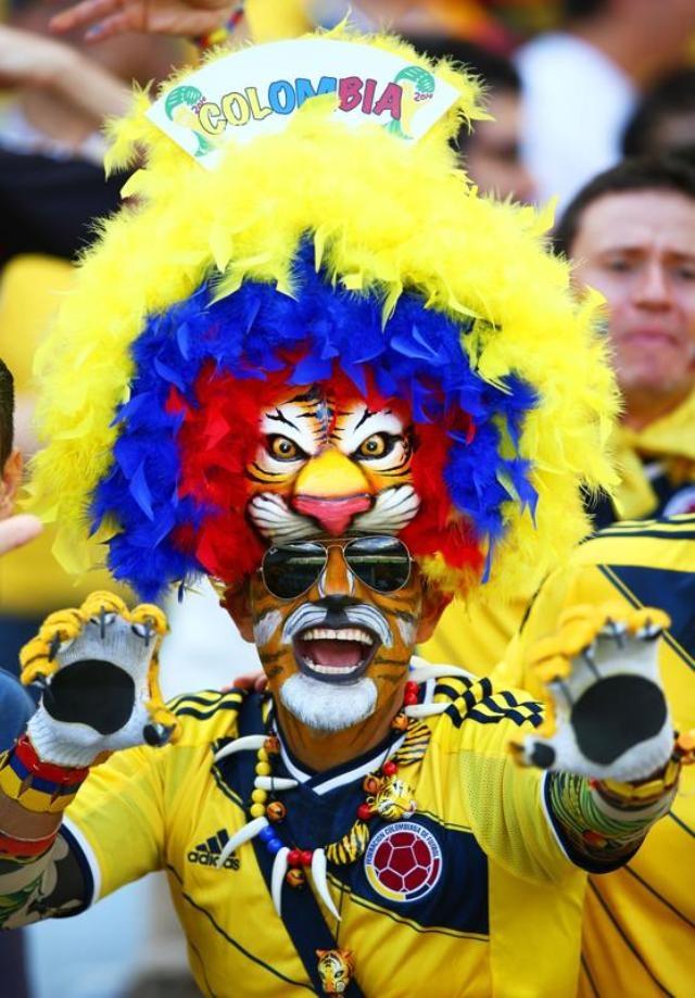 Ở Belo Horizonte, người hâm mộ Colombia sáng rực với sắc vàng