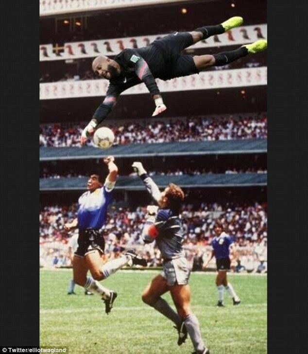 Nếu có Howard ở đó, chắc hẳn Maradona sẽ không có bàn thắng này