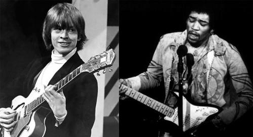 Brian Jones và Jimi Hendrix.