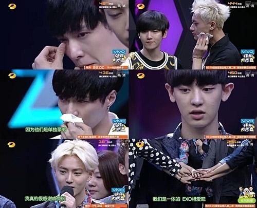 EXO không cầm được nước mắt khi nói về Kris