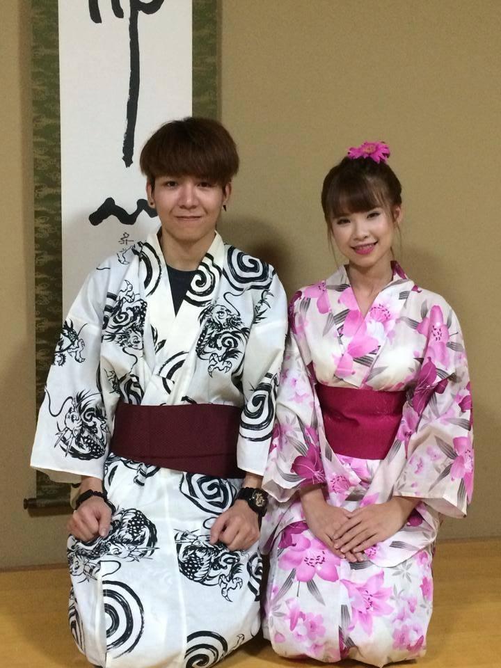 Khởi My và Kelvin trong trang phục truyền thống của Nhật Bản. Huy Khánh