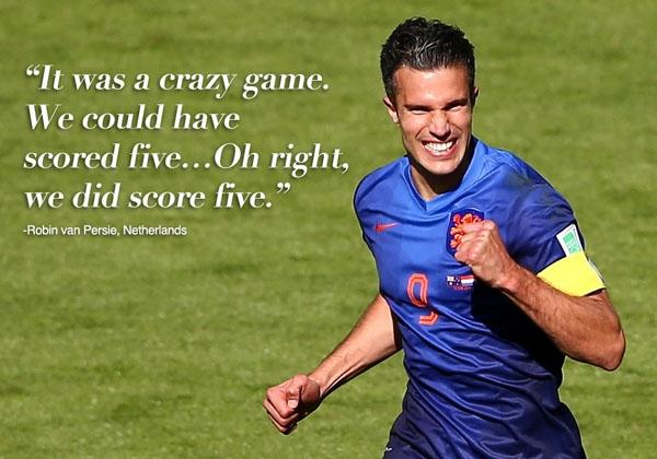 [Bóng Đá] Những phát ngôn ấn tượng nhất World Cup 2014: Ronaldo, Van Persie,... đã nói gì?