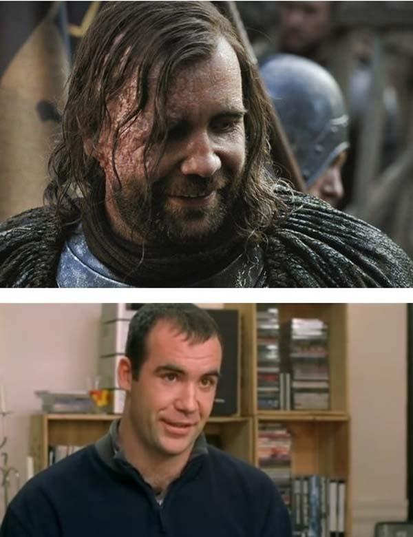 Nhân vật Chó Săn (The Hound) nổi tiếng hung tàn trong Game Of Thrones trước và sau make-up...