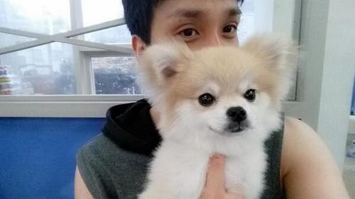 Taeheon (ZE:A) khoe hình cùng chú cún siêu dễ thương