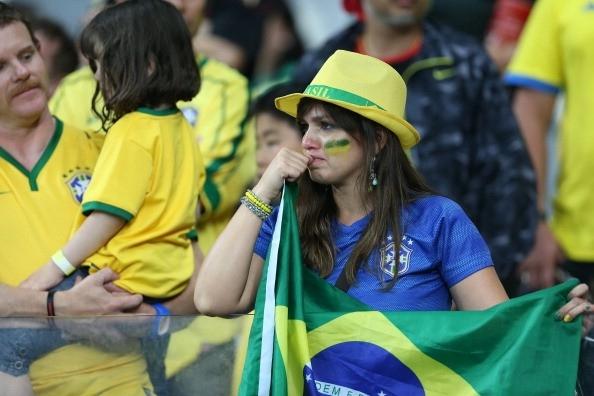 Thất bại trước Đức khiến Brazil vỡ mộng giành cúp vàng ngay trên sân nhà.