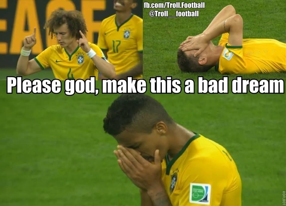 Cầu thủ Brazil khẩn cầu giá như đây chỉ là 1 cơn ác mộng