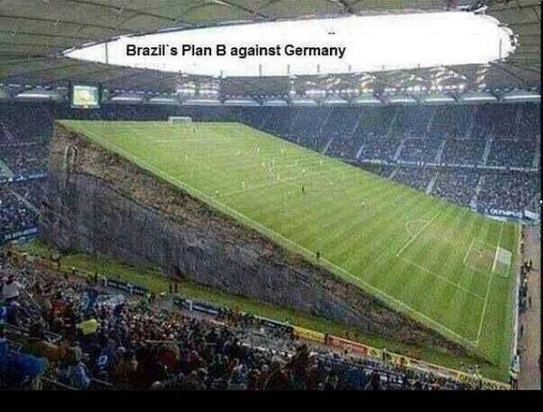 Muốn lật đổ Đức, Brazil có lẽ cần phải chuyển sang phương án B là di chuyển tới một sân đấu có độ dốc khủng khiếp mà họ phải là người nắm lợi thế ở phía trên.
