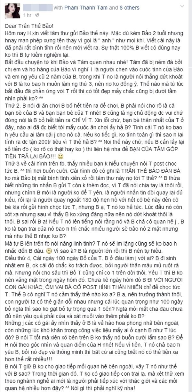 """Bức tâm thư """"phản pháo"""" lại từ một cô bạn thân của hot girl Tâm Tít."""