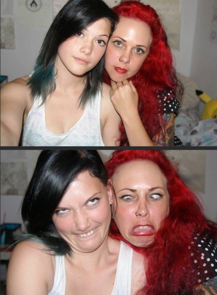 Buồn cười ngắm các cô nàng xinh đẹp làm mặt xấu hết hồn!