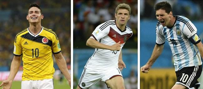 Rodriguez - Mueller - Messi là những ứng viên sáng giá