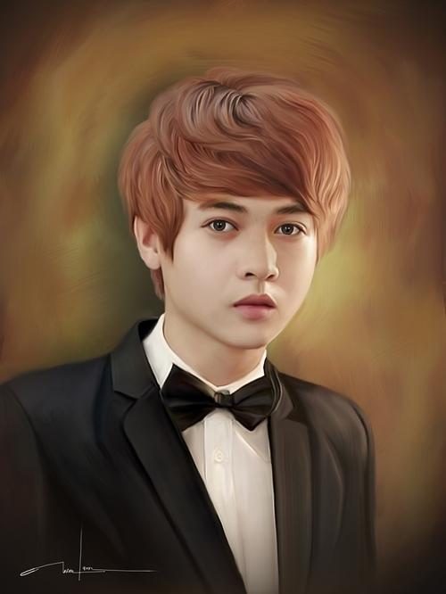 Chàng trai vẽ photoshop chân dung đẹp ngất ngây
