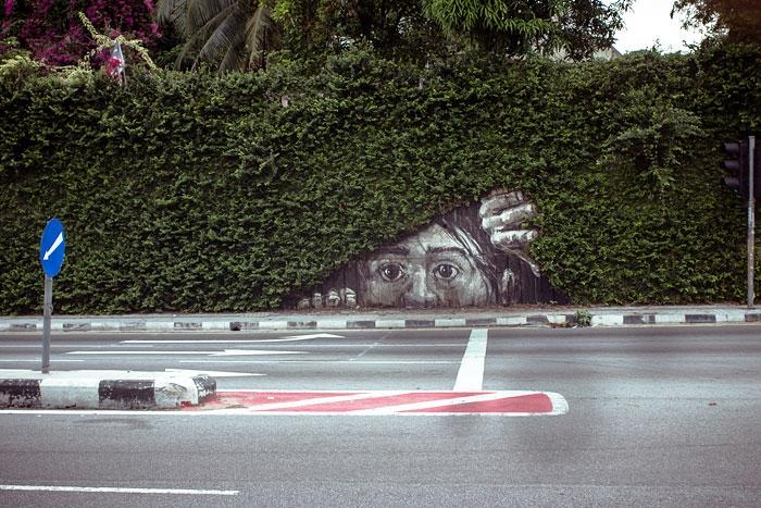 Những tác phẩm nghệ thuật đường phố tận dụng cây cối xung quanh