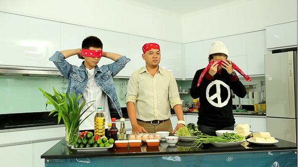 Thử thách bịt mắt đoán đồ ăn bằng mũi của Gil Lê và Will