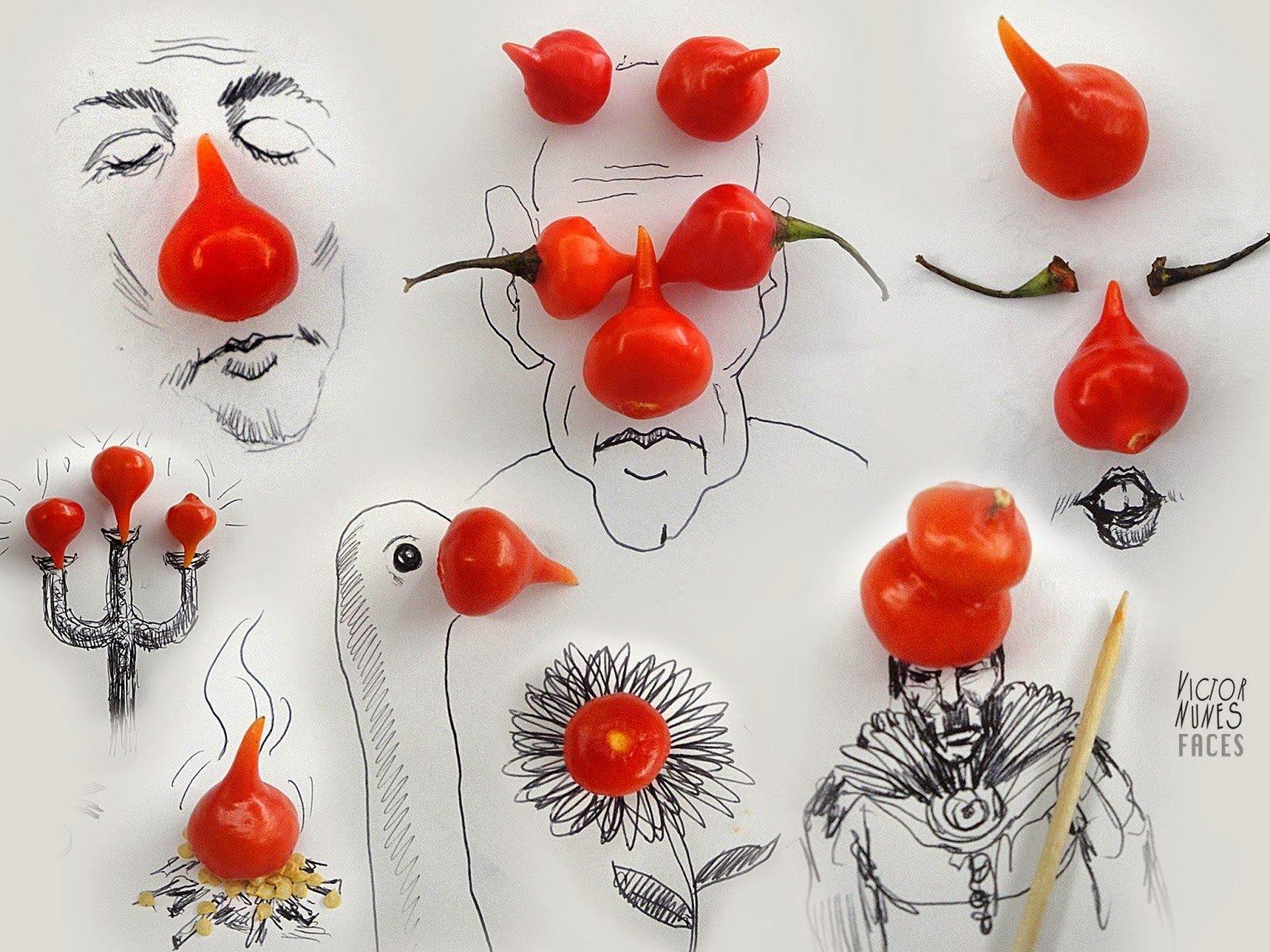 """Vui nhộn những """"gương mặt"""" được """"vẽ"""" bằng thực phẩm"""