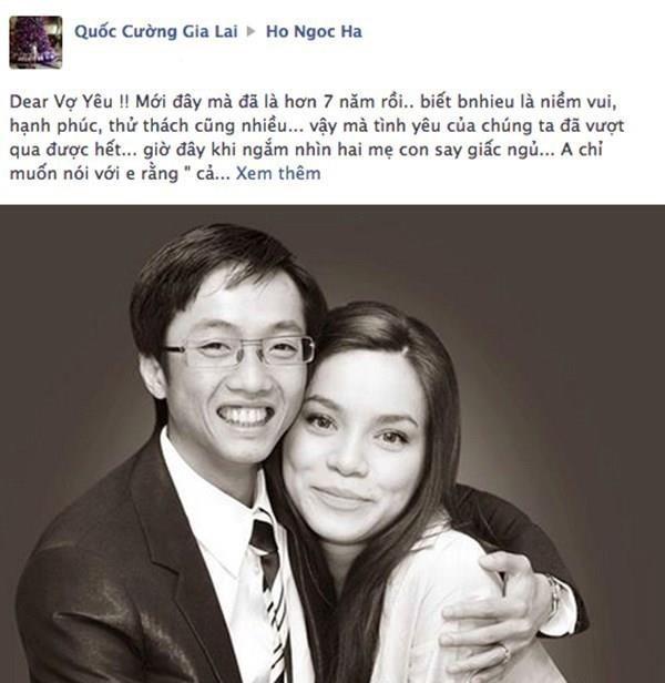 Bức thư tỏ tình và lời cầu hôn được viết thông qua Facebook cá nhân của Cường Đô la khiến người hâm mộ 'phát sốt'. - Tin sao Viet - Tin tuc sao Viet - Scandal sao Viet - Tin tuc cua Sao - Tin cua Sao