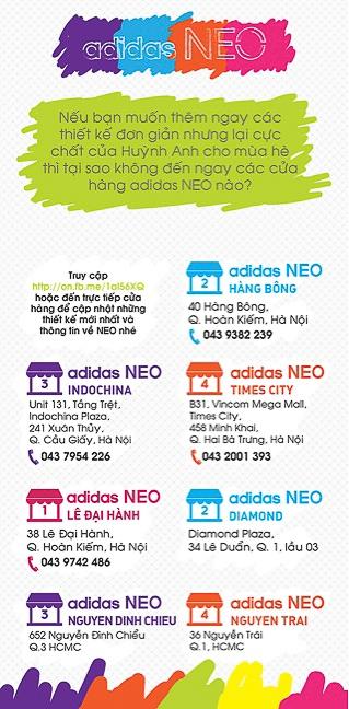 """Bạn sẽ tìm được những món đồ theo phong cách adidas NEO cực """"cool"""" này tại các cửa hàng Adidas."""